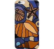 Colorful Seashells Abstract Art Original iPhone Case/Skin
