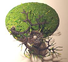 Bird Nest No.6 - Wall Art Sculpture by Sal Villano