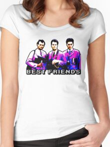 Best Friends - Spooks, Spectres, and Ghosts Women's Fitted Scoop T-Shirt