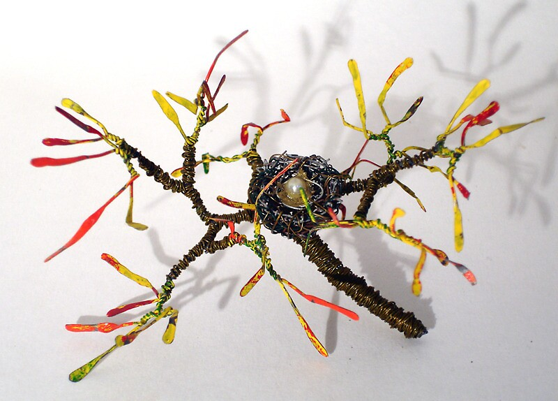 Bird Nest No.8 - Wire Sculpture   by Sal Villano