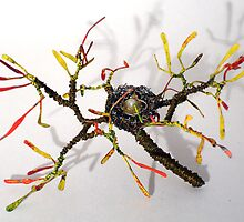 Bird Nest No.8 - Wire Sculpture   by Sal Villano