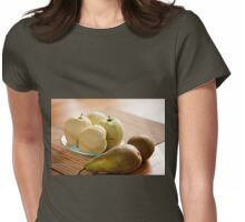 Peeled apples and pears  Womens Fitted T-Shirt