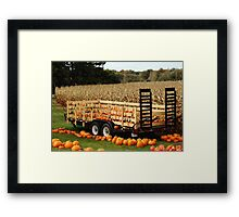 Give Thanks Pumpkin Wagon Framed Print