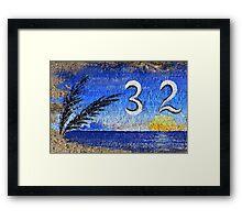 Curbside in California, Blue Framed Print