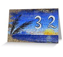 Curbside in California, Blue Greeting Card