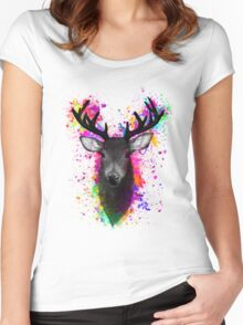 Stag Women's Fitted Scoop T-Shirt