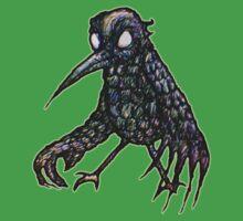 Teenage Crow (Slightly Scary Bird) Kids Tee