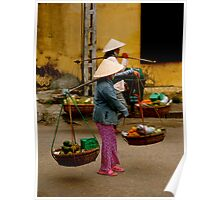 Vietnamese Ladies on Market Day Poster