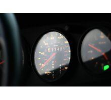 Vintage 993 Porsche Gauges Photographic Print