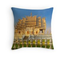 Wat Rong Khun Throw Pillow