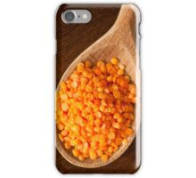 Healthy food red lentils iPhone Case/Skin