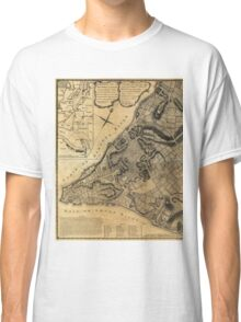 A Plan of the City of New York Map (1766) Classic T-Shirt