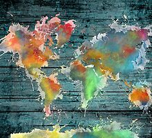 World map splash by JBJart