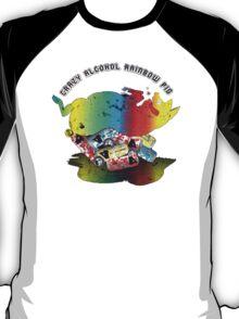 Crazy Alcohol Rainbow Pig T-Shirt