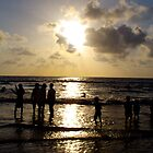 summer sunset - mumbai beach  by bharatrawail