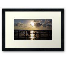 summer sunset - mumbai beach  Framed Print