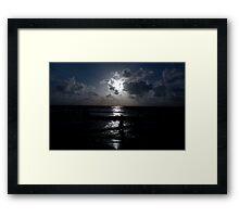 blue sunset mumbai beach Framed Print
