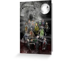 13 Zombies are here to Entertain You! Greeting Card