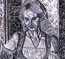 Serving Wench, The Original Barista by Steven Torrisi