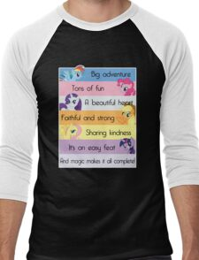 Friendship Is Magic Men's Baseball ¾ T-Shirt