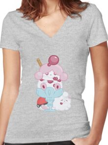 Slurpuff and Swirlix Women's Fitted V-Neck T-Shirt