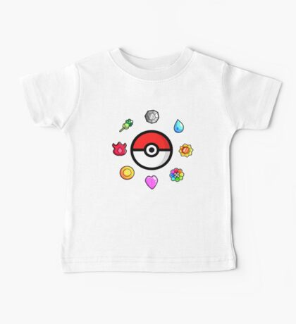 Pokemon Badges, first Generation Baby Tee