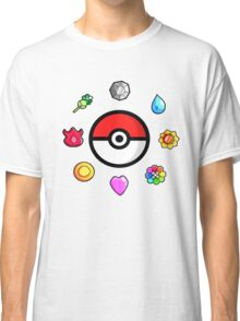 Pokemon Badges, first Generation Classic T-Shirt