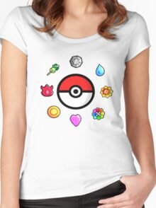 Pokemon Badges, first Generation Women's Fitted Scoop T-Shirt