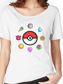 Pokemon Badges, first Generation Women's Relaxed Fit T-Shirt