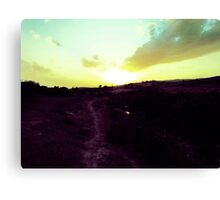 Walking Toward The Sun Canvas Print