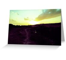 Walking Toward The Sun Greeting Card