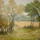 Golden Meadows III by Phyllis Frameli