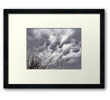 Morning Storm Clouds Framed Print