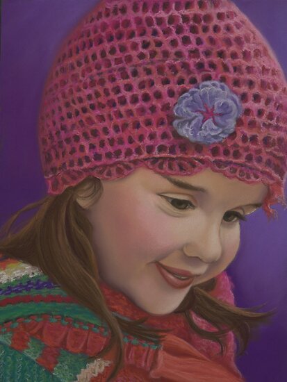 Girl with Crochet Hat by Martha Mitchell