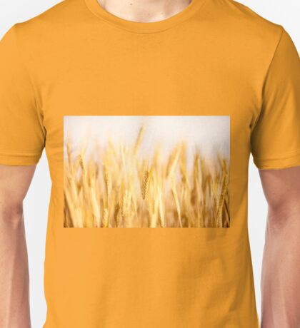 Golden cereal ears grow  Unisex T-Shirt