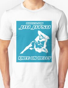 Brazilian Jiu Jitsu Knee On Belly Blue Unisex T-Shirt