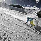 Snowboarding on Alpine slopes by Maxim Mayorov