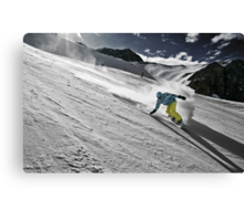 Snowboarding on Alpine slopes Canvas Print