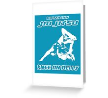 Brazilian Jiu Jitsu Knee On Belly Blue Greeting Card
