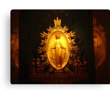 Miraculous Mary Metal  Canvas Print