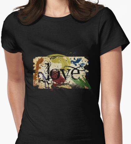 Parchment Love Womens Fitted T-Shirt