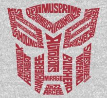 Transformers Autobots Red One Piece - Long Sleeve