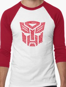 Transformers Autobots Red Men's Baseball ¾ T-Shirt