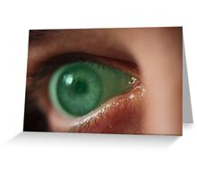 Turn off this green eyed monster! Greeting Card