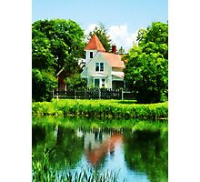 Suburban House with Reflection Photographic Print