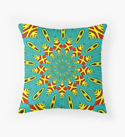 Turquoise and Red are in my Head Throw Pillow