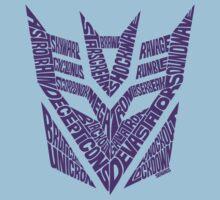 Transformers Decepticons Purple Kids Tee