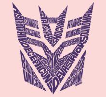 Transformers Decepticons Purple Baby Tee
