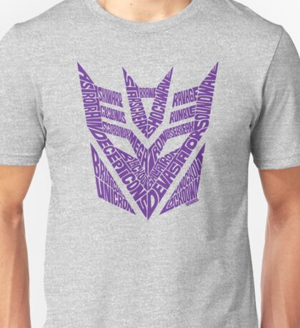 Transformers Decepticons Purple Unisex T-Shirt