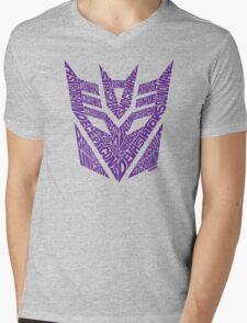 Transformers Decepticons Purple Mens V-Neck T-Shirt
